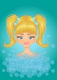 Bathed girl Royalty Free Stock Photos