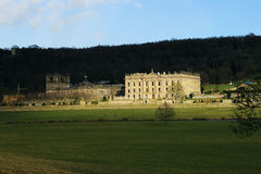 Bathed in the sunshine at Chatsworth House Royalty Free Stock Image