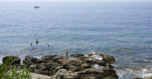 Bathers on Lokrum Island Royalty Free Stock Image