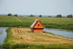 Bathhouse. A bathhouse near the Lubans Lake, Latvia stock photo