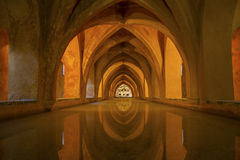 Bathhouse in the Alcazar of Seville, Spain Royalty Free Stock Photography