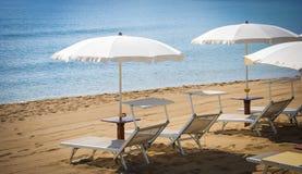 Bathhouse. Beach holidays, seashells heart and love Stock Images