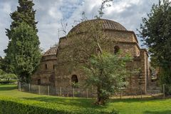 Bathhouse Bey Hamam do otomano situado na rua de Egnatia no centro da cidade de Thessal fotos de stock