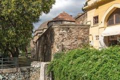 Bathhouse Bey Hamam do otomano situado na rua de Egnatia no centro da cidade de Thessal imagem de stock