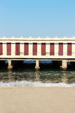 Bathhouse, cabins of a beach on the sea Stock Photography