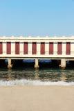 Bathhouse, cabins of a beach on the sea Stock Photography