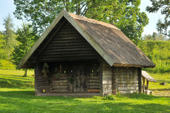 Bathhouse in countryside Stock Photo