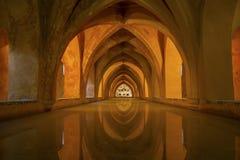 Bathhouse i alcazaren av Seville, Spanien Royaltyfri Fotografi