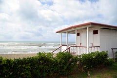 Bathhouse na plaży Obraz Stock