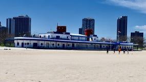 Bathhouse norte da praia da avenida fotografia de stock royalty free