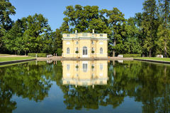 Bathhouse pavilion in Catherine Park, St. Petersburg, Russia Royalty Free Stock Images