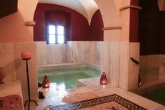 Bathhouse rebuilt as roman bath style Stock Images