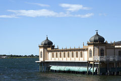 Bathhouse van Varberg, Zweden royalty-vrije stock foto's