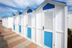 Bathhouses in row Stock Image
