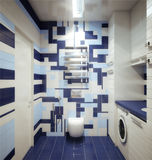 Bathhroom in newly converted house Stock Images