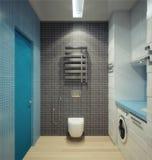 Bathhroom in newly converted house Stock Photos