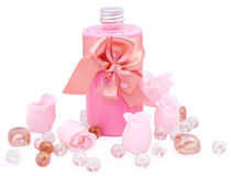 Bathing accessories stock images