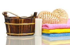 Bathing accessories Stock Photos