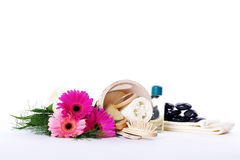 Bathing accessories decorated Royalty Free Stock Photo