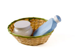 Bathing accessories Stock Image
