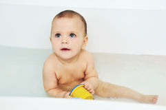 Bathing baby Royalty Free Stock Photos