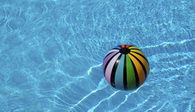 Bathing ball. Inflatable bathing ball in a pool Royalty Free Stock Image