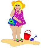 Bathing Beauty on the Beach Stock Photos
