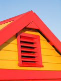 Bathing Box in late afternoon sun. At Brighton, Victoria, Australia stock photos
