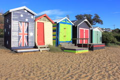 Bathing boxes in australia Royalty Free Stock Images