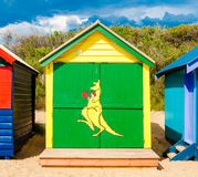 Bathing boxes at Brighton Beach, Australia Royalty Free Stock Photo