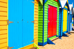 Bathing boxes at Brighton Beach, Australia Stock Image
