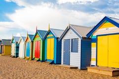 Bathing boxes at Brighton Beach, Australia Royalty Free Stock Photos