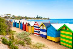 Bathing boxes at Brighton Beach, Australia Stock Photo