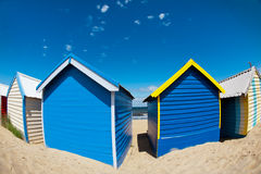 Bathing boxes on brighton beach - Melbourne - Aust Royalty Free Stock Image