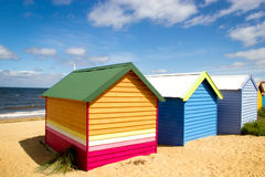 Bathing boxes on brighton beach - Melbourne - Aust Royalty Free Stock Photography