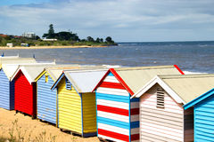 Bathing boxes on brighton beach - Melbourne - Aust Stock Image