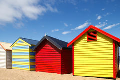 Bathing boxes on brighton beach - Melbourne - Aust Stock Photo