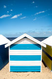 Bathing boxes on brighton beach - Melbourne - Aust Stock Images