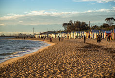 Bathing boxes at Brighton Beach, Melbourne Royalty Free Stock Image