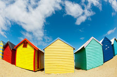 Bathing boxes on brighton beach - Melbourne - Oz Royalty Free Stock Photos
