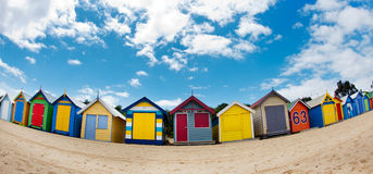 Bathing boxes on brighton beach - Melbourne - Oz Royalty Free Stock Photo