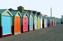 Bathing boxes, Brighton, UK Stock Photography