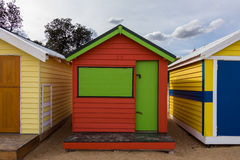Bathing Boxes. Colourful bathing boxes on the beach, in Brighton, Australia royalty free stock photos