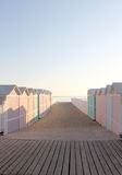 Bathing boxes, early morning, empty Stock Photography