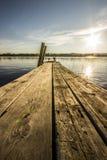 Bathing-bridge by Lake Royalty Free Stock Photo