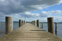 Bathing bridge on poles Royalty Free Stock Photos