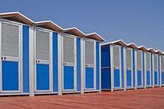 Bathing cabins Stock Photography