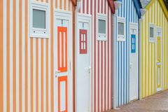 Bathing cabins Royalty Free Stock Photos