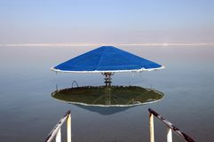 Bathing canopy on the Dead Sea Royalty Free Stock Photography