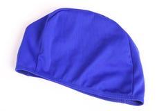 Bathing cap. Blue bathing cap Stock Photography